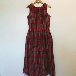 Vintage Plaid Jumper Country Girl 1980s